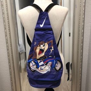 VINTAGE NIKE TAZMANIAN DEVIL MOTORCYCLE BACKPACK